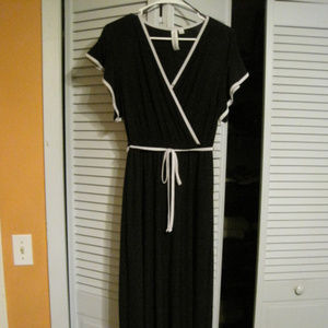 Very long dress with skirt underneath
